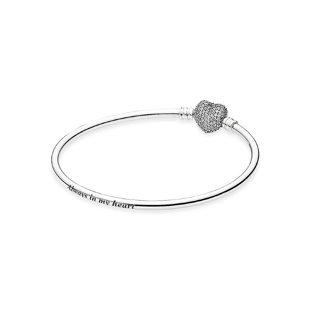 bracelet pandora fermoir coeur
