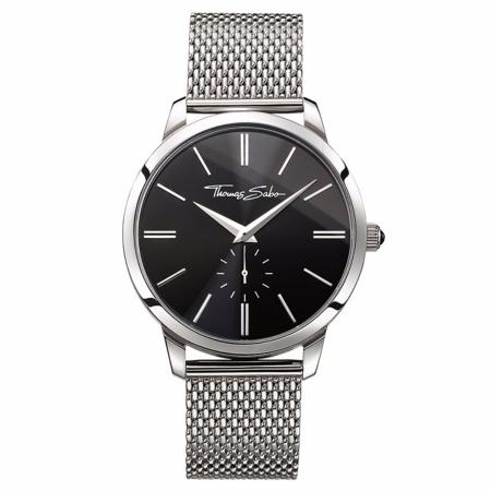 "Montre Thomas sabo"" Rebel Mesh black"""